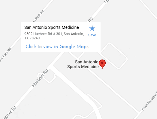 San Antonio Sports Medicine Google Maps Location